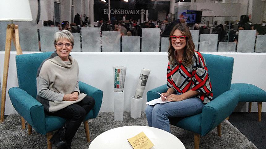Con la periodista Lucía Brocal.